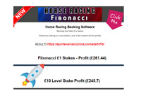 Horse racing betting software selections