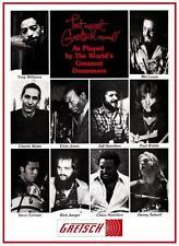 Gretsch Drums * POSTER * Store Promo ad  Tony Williams Charlie Watts Elvin Jones