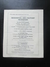 1951 AUCTION PROPERTY SALES PARTICULARS CATALOGUE LEICESTER STONEYGATE OADBY