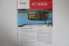 ICOM-r100 (solo opuscolo ORIGINALI)... RADIO _ Trader _ Irlanda.