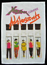 X-RAY SPEX GERMFREE TEA TOWEL POLY STYRENE ADOLESCENTS PUNK WALL HANGING POSTER