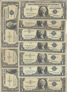 TEN $1 SILVER CERTIFICATES