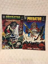 PREDATOR  THE BLOODY SANDS OF TIME Dark Horse Comics Issue 1-2 Complete SET