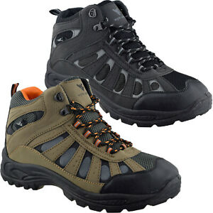 Mens Walking Hiking Boots Ankle High Trail Trekking Shoes Trainers Sizes