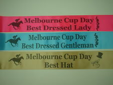 Melbourne Cup Day Award Body Sashes, office party,party award pack of 3