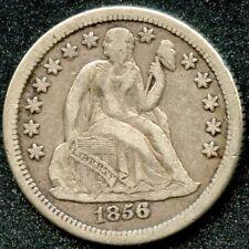1856-O (XF) 10C SEATED LIBERTY DIME W/ARROWS