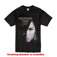 New Aaliyah Qoute Singer Gildan T-shirt Size S-2XL Black color