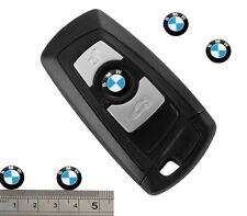 LOGO STEMMA BMW ADESIVO PULSANTE CHIAVE PER BMW 11mm 2 PEZZI