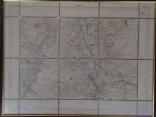 "Karten-Lithografie ""Thusis"" Eidgenöss.Stabsbureau 1875    (247/13061)"