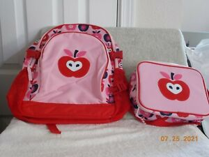 GYMBOREE APPLE BACKPACK & LUNCH BOX NEW