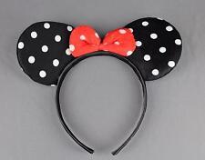 Black minnie mouse ears headband ear hair band costume polka dot mickey