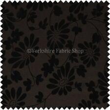 Tessuti e stoffe Floreale per hobby creativi marrone ciniglia