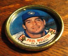 Paul Molitor Baseball Coin Button - Vintage 1988 Topps Milwaukee Brewers MLB DH