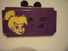 DISNEY TINKERBELL  ADMIT ONE TICKET PIN..... LIMITED RELEASE  PIN !!!
