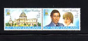 NEW ZEALAND #734-735a  1981  ROYAL WEDDING   MINT  VF NH  O.G  PAIR