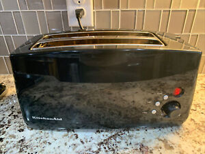 KitchenAid KTT570OB Onyx Black 2-Slot 4-Slice Digital Toaster Half Heats (issue)