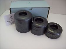Partylite Stepping Stones Ceramic Candle Holders Set of 3