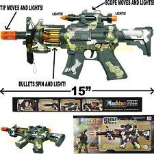 M-16 MACHINE GUN TOY CAMOUFLAGE SWAT RIFLE ASSAULT CAR-15 M-16 LIGHTS & SOUNDS