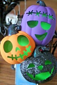 Bath and Body Works Halloween JACK O LANTERNS Pumpkins WALLFLOWER ~~Lights up~~