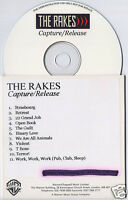 THE RAKES Capture/Release UK 11-trk promo publishing CD Warner/Chappell Music