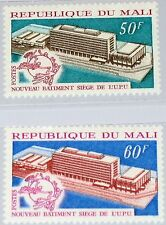 Mali 1970 228-29 134-35 UPU HQ Headquarters mundo post Verein edificio emblema mnh