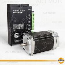 ACT MOTOR GmbH 1PC Nema23 57BLF03 BLDC Motor 188W 3000RPM 24V+1PC BLDC-8015A-5