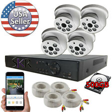 Sikker 4 ch channel Dvr 1080P security camera system Hdmi with 500Gb hard drive