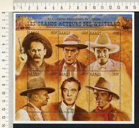 36383) MALI MNH** Westerns s/s G. Cooper J. Wayne T. Mix ...