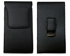 Black Vertical Leather Belt Clip Case Pouch Cover for APPLE IPHONE 4S 4 S NEW!