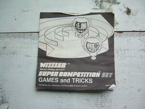 Vtg 1970 Wizzzer Super Competition Games & Tricks INSTRUCTION manual guide howto