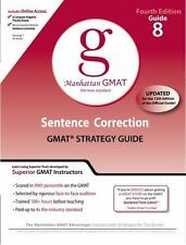 Sentence Correction GMAT Preparation Guide, 4th Edition (8 Guide Instructional..