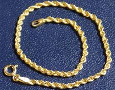 Goldarmband 585 echt Gelbgold Damen Mädchen 14 Karat Gold Kordel Kordelarmband