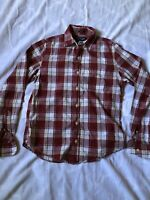 ABERCROMBIE & FITCH Muscle Fit Plaid Flannel Button Down Shirt Men's SIZE S
