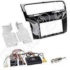 Alpine radio cable de conexión golf 7 + 2-din diafragma piano charol + adaptador antenas