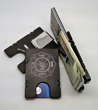 Fire Department, Aluminum Wallet/Credit Card Holder RFID Protection