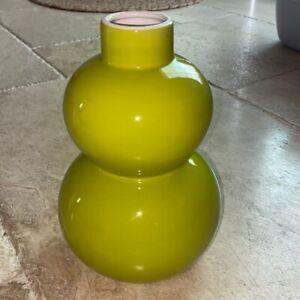 Crate & Barrel Yoko green vase