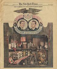 NY Times 7-12-1964 Special Advertising WNBC Huntley Brinkley Convention Almanac