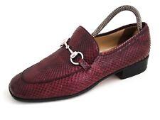 Gucci Horsebit Loafer Burgundy Snakeskin Women Size EU 39 US 9 $920 *RARE*