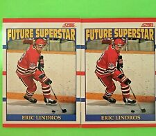 Lot of 2  ERIC LINDROS  1990  ROOKIE  CAN.  FUTURE SUPERSTAR  #440 Flyers