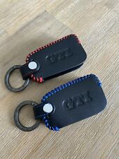 Genuine leather key fob cover for VW Polo And Golf GTI