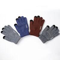 AM_ BL_ Fashion Knitted Touch Screen Men Women Warm Windproof Outdoor Sport Glov