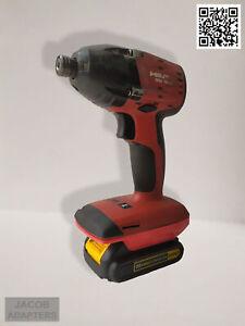 DeWalt 18-20V battery  -  Hilti 22V Tool adapter