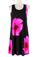 Jostar BLACK TANK DRESS Wrinkle Free Travel Fabric Pink Hibiscus Poly Spandex 2X