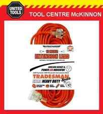 UR24010T ULTRACHARGE 10M Heavy Duty Extension Lead Tradesman- Orange& Clear Plug