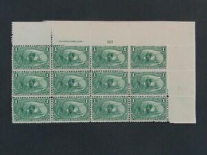 Nystamps US Stamp # 285 Mint OG H $665 Plate # Block of 12 f21yc