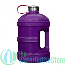 1 Gallon BpA Free Reusable Water Bottle Jug Stainless Steel Cap Solid Purple New