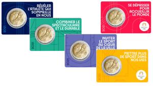 PREVENTE Lot 5 Versions Coincards BU 2 Euros Commémorative France 2021 Olympic