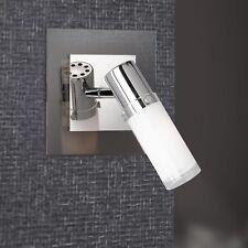 Wofi Applique murale Marco 1-FLG CHROME VERRE cylindre blanc réglable spot E14