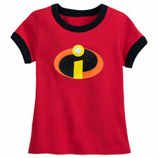 Disney Incredibles Logo Ringer T-Shirt for Girls Red XS (4) NWT
