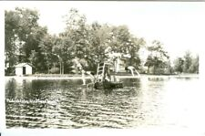 Hastings MI Diving off the Raft, Podunk Lake RPPC